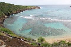 De Baai van Hanauma in Hawaï Royalty-vrije Stock Foto's