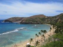 De Baai van Hanauma in Hawaï stock foto's