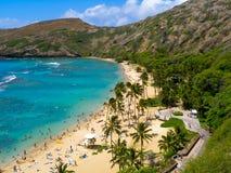 De Baai van Hanauma in Hawaï Stock Foto