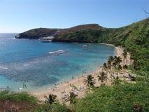 De Baai van Hanauma, Oahu, Hawaï Royalty-vrije Stock Afbeeldingen
