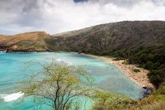 De Baai van Hanauma, Oahu, Hawaï Royalty-vrije Stock Foto