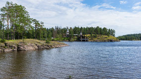 De Baai van het landschapsklooster Royalty-vrije Stock Foto