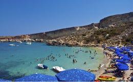 De Baai van het paradijs, Malta Royalty-vrije Stock Afbeelding