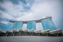 De Baai van de jachthaven schuurt Hotel in Singapore stock fotografie