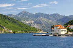 De Baai van Kotor (Boka Kotorska), Montenegro Royalty-vrije Stock Foto