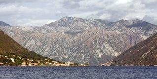 De baai van Kotor, Montenegro Royalty-vrije Stock Afbeeldingen
