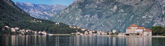 De baai van Kotor in Montenegro Stock Afbeeldingen