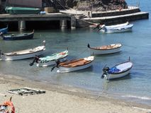 De baai van Levanto in de provincie die van La Spezia, de Golf van Dichters overzien, wordt gevestigd een paar kilometers van Cin stock afbeeldingen