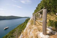 De baai van Lim dichtbij Rovinj royalty-vrije stock afbeelding