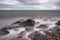 De Baai van Lyme stock fotografie