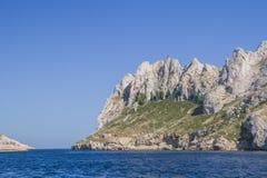 In de baai van Marseille Stock Afbeeldingen