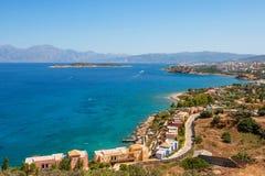 De baai van Mirabello. Kreta, Griekenland Royalty-vrije Stock Foto