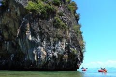 De Baai van Nga van Phang (Nationaal Park), Thailand Stock Afbeeldingen