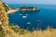 De baai van Nice in Italië Stock Foto's