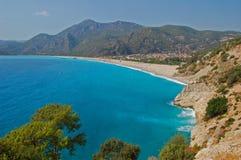 De Baai van Oludeniz, Turkije Royalty-vrije Stock Afbeeldingen