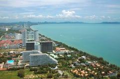 De Baai van Pattaya, Thailand royalty-vrije stock foto