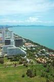De Baai van Pattaya, Thailand stock foto's