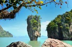 De Baai van Phangnga Stock Afbeeldingen