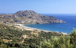 De Baai van Plakias, Kreta Stock Afbeeldingen
