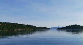 De baai van Polace in het nationale park van Mljet royalty-vrije stock fotografie