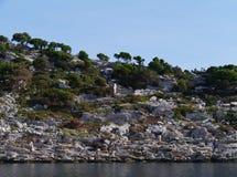 De baai van Polace van het eiland Mljet royalty-vrije stock afbeelding