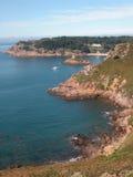 De Baai van Portelet, Jersey Stock Foto
