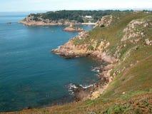 De Baai van Portelet, Jersey Stock Afbeeldingen