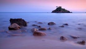 De Baai van Portelet - Jersey C.I Stock Afbeelding
