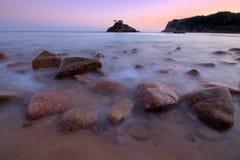 De Baai van Portelet - Jersey C.I Stock Foto