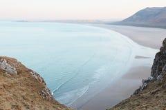 De Baai van Rhossili stock foto's