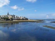 De baai van Roscoff, Bretagne, Frankrijk Stock Afbeeldingen