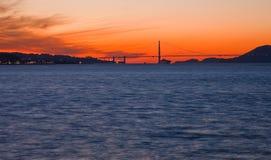 De Baai van San Francisco bij zonsondergang. royalty-vrije stock foto