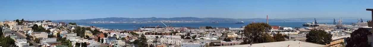 De Baai van San Francisco die van Heuvel Potrero wordt gezien Stock Foto