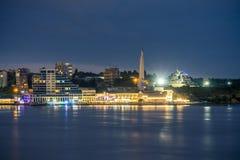 De baai van Sebastopol in de avond Stock Afbeeldingen