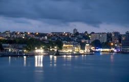 De baai van Sebastopol in de avond Royalty-vrije Stock Afbeeldingen