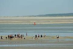 De baai van Somme in Picardie, Frankrijk Stock Afbeelding