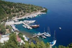 De baai van Spilia, Meganissi Royalty-vrije Stock Afbeelding