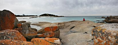 De Baai van Tasmanige van Branden stock afbeelding