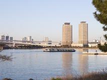 De Baai van Tokyo en mooie bezinning Stock Foto