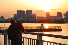 De baai van Tokyo van Odaiba Stock Foto