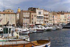 De baai van Tropez van Sait stock foto's