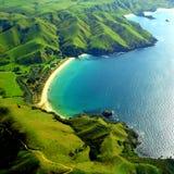 De Baai van Tupou, Nieuw Zeeland Stock Afbeeldingen