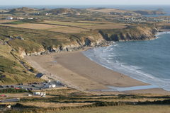 De Baai van Whitesands, Pembrokeshire Stock Foto