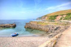 De Baai van Whitsand van de Portwrinklehaven dichtbij Looe Cornwall Engeland Stock Foto's