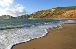 De Baai van Worlbarrow, Dorset stock foto