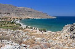 De baai van Zakros van Kato bij het eiland van Kreta Royalty-vrije Stock Foto's