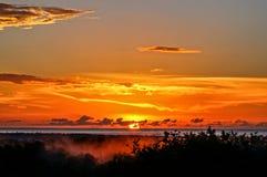 De baai van zonsondergangmayagã ¼ ez Royalty-vrije Stock Afbeeldingen