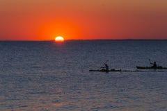 De Baai van zonsondergangraritan royalty-vrije stock fotografie