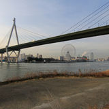 De baaigebied van Osaka Royalty-vrije Stock Foto's