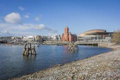 De Baaihorizon van Cardiff stock foto